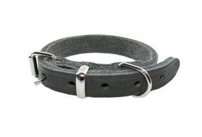 Halsband råläder 12/30 grå -