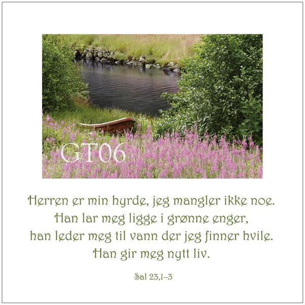 Postkort Sal 23,1-3