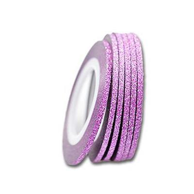 KN- Glitter Stripe Cerise
