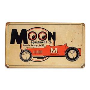 MOON Equipment Co. Roadster Vintage style metallskylt