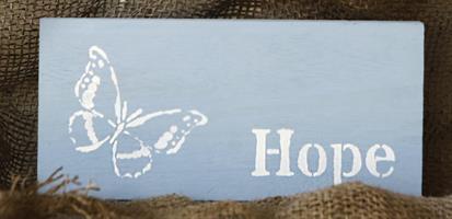 Tekstskilt - Hope