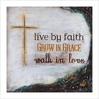 Kunstkort - Live by faith