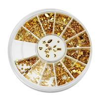 KN- WHEEL Gold Metal Deco