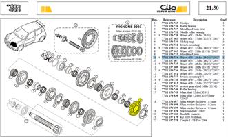 ROUE 3-26DTS SECONDAIRE 26X14 - Wheel of 3 - 26 dts (14/26)