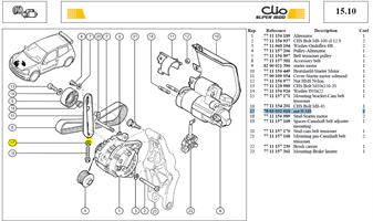ECROU HM8-125 LG:6,5 CL:8.8 - Nut H M8