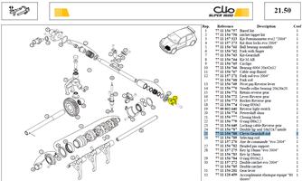 CHAPE COMMANDE - Clevis-Gearshift rod
