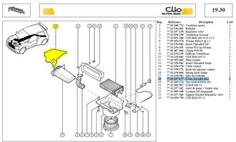 CLOISON ETANCH ENTREE AIR CHAUF - Cover-Air inlet duct