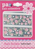 DL- Sticker pink rose & ribbon lace