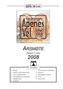 Program for Årsmøte 2008