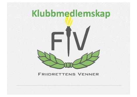 Informasjon om klubbmedlemskap i Friidrettens Venner