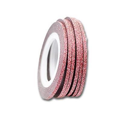 Kn- Glitter Stripe Red