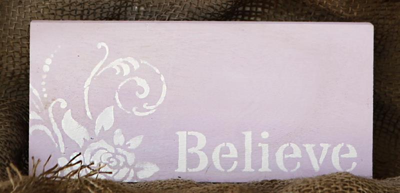 Tekstskilt - Believe