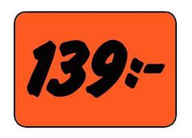 Etikett 139:- 50x30mm