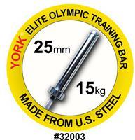 York US FWB 32003 vektløfting treningsstang 15kg