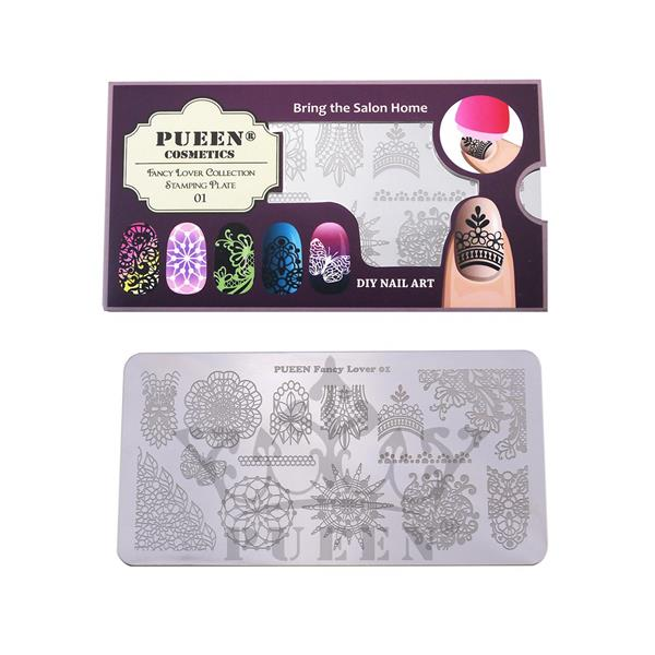 PUEEN- Nail Stamp Plate Fancy Lover 01