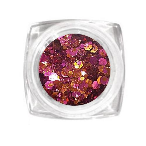 KN- Jar MIX Glitter CERICE COPPER