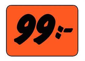 Etikett 99:- 30x20mm