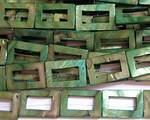 Rektangel av snäckskal grön
