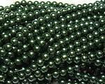 Vaxad glaspärla grön