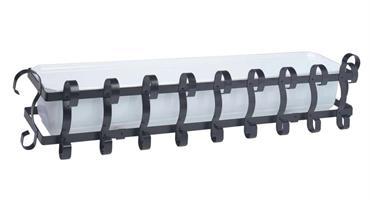 Balkonglåda komplett svart 100cm