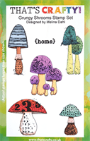 A5 Clear stamp set Grungy Shrooms