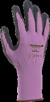 Handske Comfort strl 6 violett/svart
