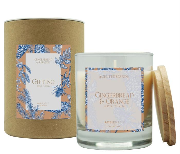 Scented Candle Gifting 200gr Gingerbread & Orange