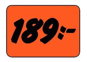 Etikett 189:- 50x30mm