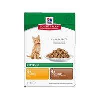 Hills Katt Kitten Poultry Chunks in Gravy 12x85g