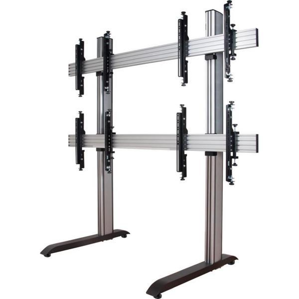 B-TECH BT 8370-2x2-240 ilman pyöriä, hopea/musta