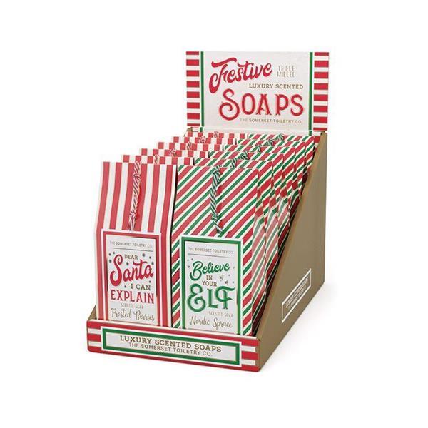 """""""NEW"""" Festive Soap Merchendiser 16 X 150g"""