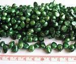 Sötvattenpärlor blister grön