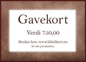 Gavekort 750,-