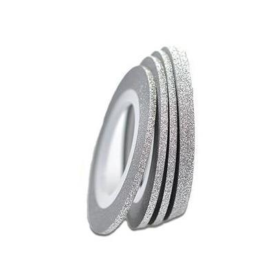KN- Glitter Stripe  Silver