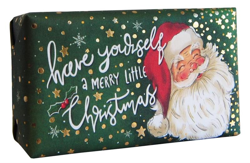 Festive Wrapped Soap Santa 200gr