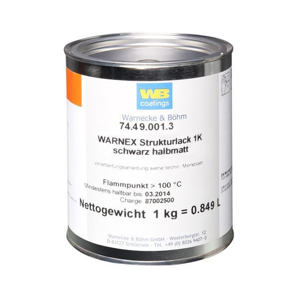 Warnex strukturfärg svart 1 kg burk
