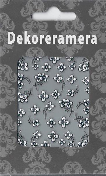 DM- Sticker 3D Flower white