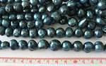 Sötvattenpärlor blå  10-13mm