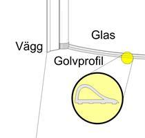 Golvprofil aluminium rak C100