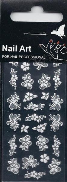 NA- Stickers Flower white