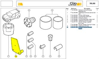 OUTIL MONTAGE   SUPPT ALTERNATEU - Tooling to mount alternater support