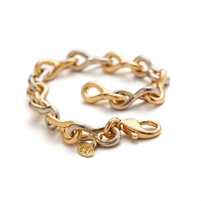 JO'ANS Omsmältning. Åttan armband röd/vit guld 40 gram 18 karat