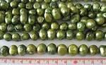 Sötvattenpärlor grön  10-13mm