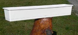 Balkonglåda 90cm Vit