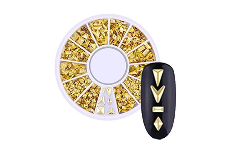 BL- Wheel Gold Studs