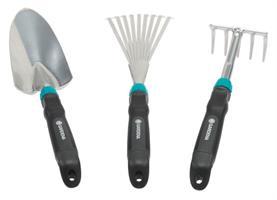 Comfort handredskap set med kratta, spade och räfsa