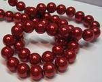Vaxad glaspärla röd