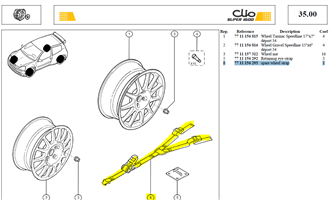 SANGLE SPANSET - Spare wheel strap