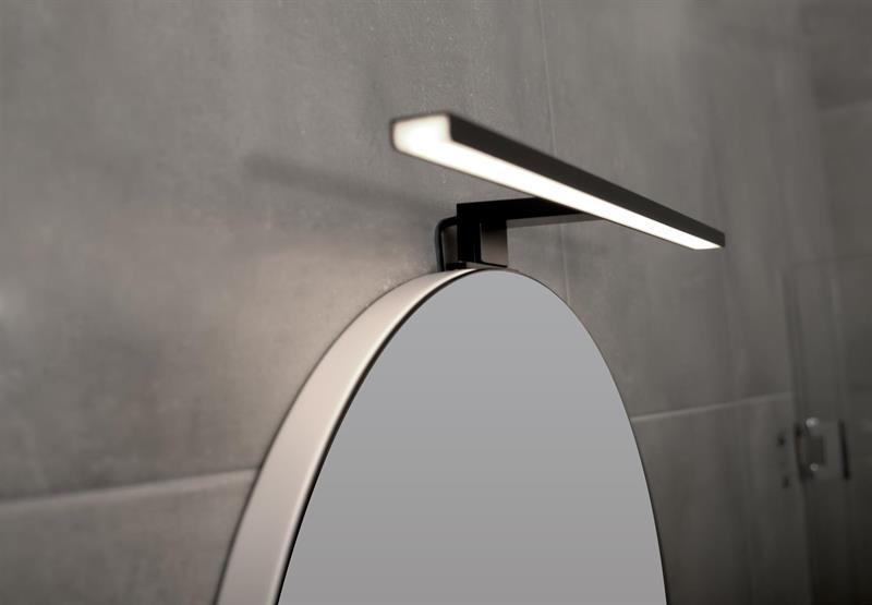 LED Belysning för spegel 50cm, Svart Matt
