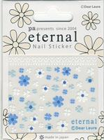 DL- Sticker Flower blue & white
